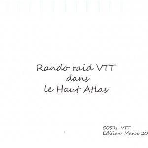 VTT | COSRL | LARDY | RAID | MAROC | HAUT ATLAS |