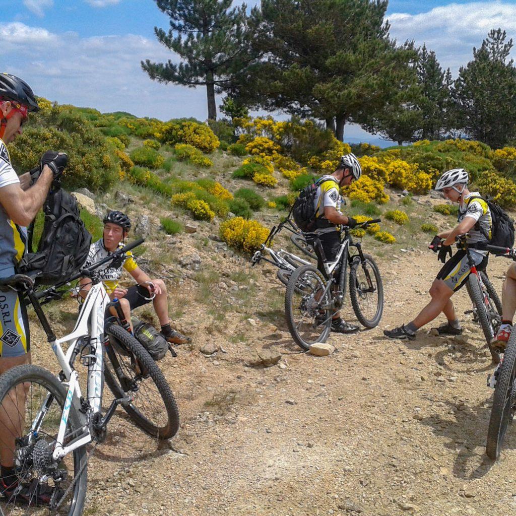 VTT | COSRL | LARDY | CEVENNES 2015| CYCLISTES | ARRETE | CHEMIN